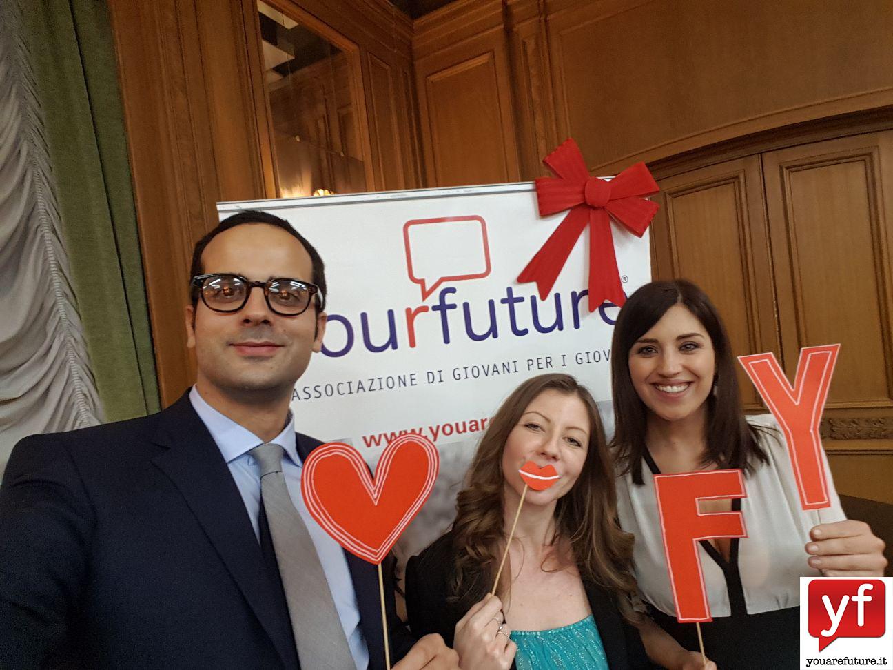 La responsabile dell'evento Angela Marcoccia, Luana Capriotti e Alessandro Cinque YF