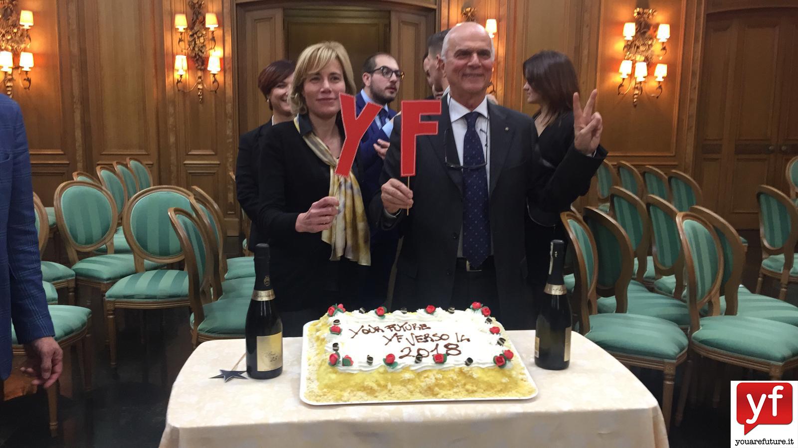 La giornalista Antonella Gaetani e Renaldo Cinque.