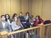 Alcuni studenti del Dante Alighieri durante l\'udienza